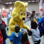 Momenti di divertimento con la mascotte di Haribo