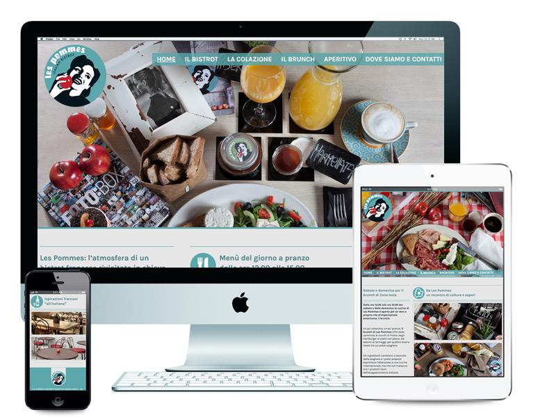 Il sito web di Les Pommes Bistrot