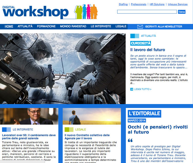 Digital Workshop Homapage