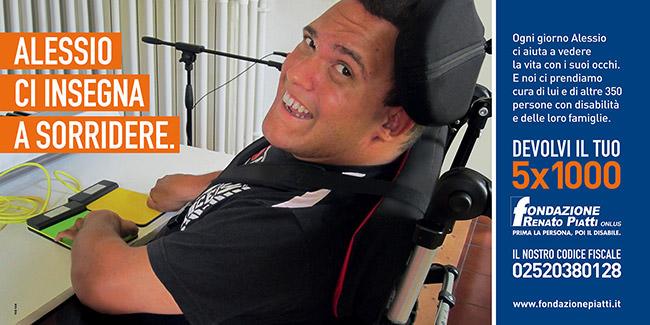 Campagna 5X1000 Renato Piatti: Alessio ci insegna a sorridere