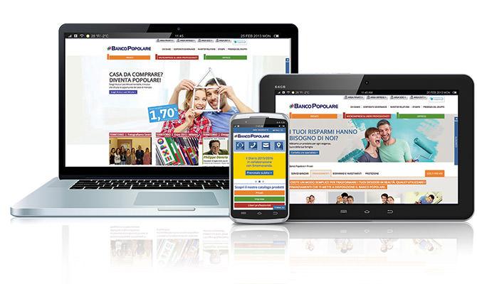 online il nuovo sito del Banco popolare